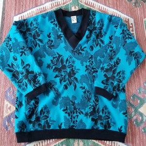 Vintage Vneck Knit Sweater